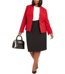 le suit plus size pencil skirt suit
