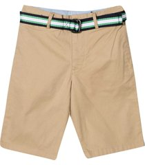 ralph lauren khaki bermuda shorts with belt