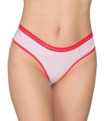 calcinha tanga plus size vip lingerie estampada vermelho