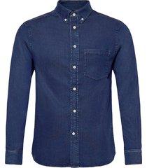 indigo soft stretch slim shirt overhemd casual blauw j. lindeberg