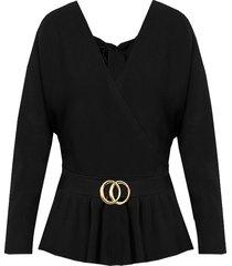 overslag trui deluxe zwart