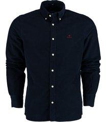 gant overhemd corduroy donkerblauw 3016820/410