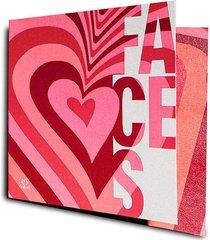 cartão batom coração faces