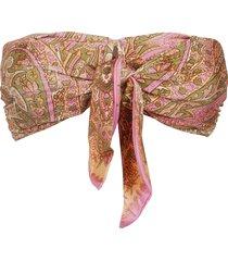 zimmermann brighton scarf tie bra