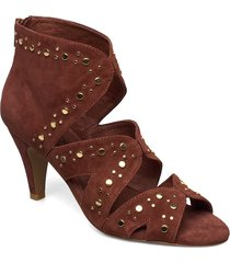 shoe shoes boots ankle boots ankle boot - heel brun sofie schnoor