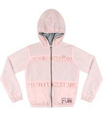 jaqueta corta vento ser garota rosa - rosa - menina - poliã©ster - dafiti