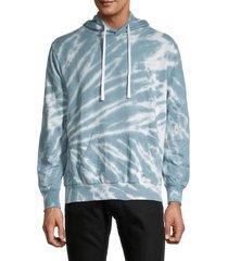 trunks surf + swim men's terry tie-dye hoodie - twilight - size l