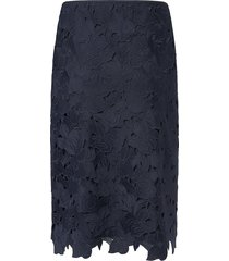 rok in smal kokermodel van laurèl blauw