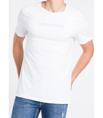 camiseta mc regular logo meia reat gc - branco - ggg