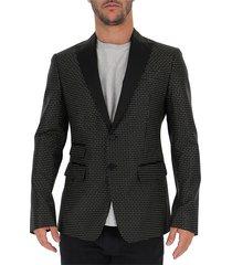 london geometric patterned blazer
