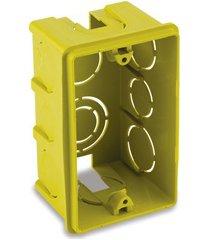 caixa de luz em polipropileno 4x2 retangular amarela
