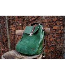 lilith plecak/torba zielona skóra