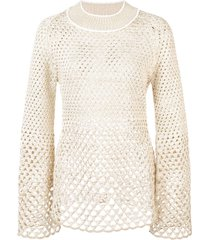 proenza schouler open-knit top - metallic