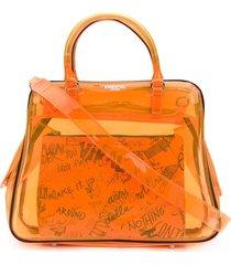 essentiel antwerp varouska sheer shoulder bag - orange