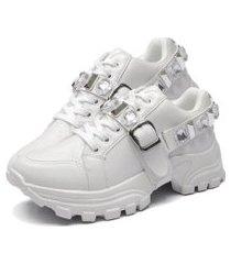 tênis sapatênis fashion feminino dubuy 699el branco