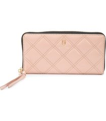 marc jacobs quilted continental wallet - pink