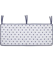 disney mickey mouse crib rail guard with ties bedding