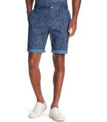 "tallia men's modern-fit stretch zebra print 9"" shorts"