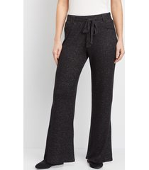 maurices womens belted wide leg pants gray