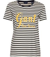 d1. stripe graphic ss t-shirt t-shirts & tops short-sleeved blauw gant