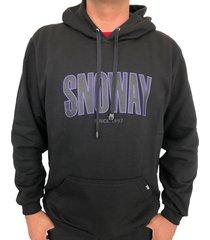moletom snoway logo preto - kanui