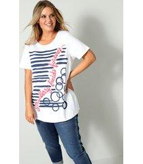 shirt janet & joyce wit::koraal::marine