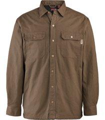 wolverine floorhand shirt jac dark bison, size m