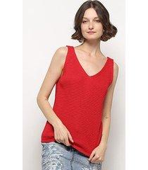 blusa crochê mercatto regata feminina