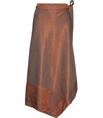 morganagz skirt ao19 knälång kjol brun gestuz
