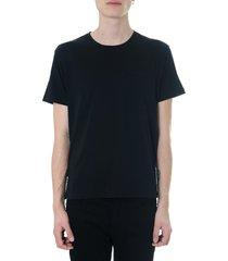 valentino rockstud untitled black cotton t-shirt