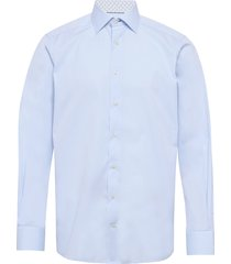 poplin shirt – micro - contemporary fit overhemd business blauw eton