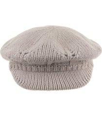 max mara mandare flat cap in taupe cashmere