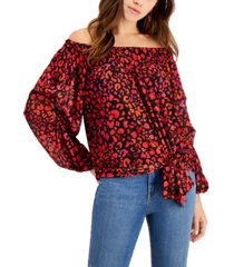 willow drive tie-front off-the-shoulder blouse