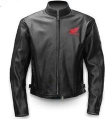 honda motorbike motorcycle racing leather jacket men jacket : all size available