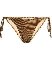 zimmermann leopard-print bikini bottoms - brown