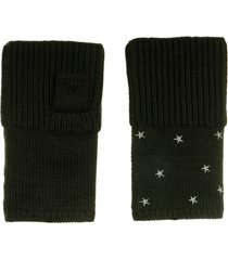 women's carolyn rowan accessories starry merino wool fingerless gloves, size one size - grey