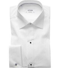 men's big & tall eton contemporary fit pleated bib tuxedo shirt, size 18 - white