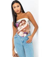 akira masterpiece satin corset top