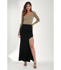 mathilde gøhler x na-kd asymmetrisk kjol - black