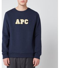 a.p.c. men's malcolm sweatshirt - marine - xxl