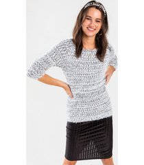 laureen pullover sweater - black/white