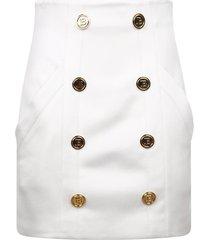 balmain high waisted skirt