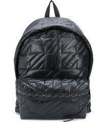 eastpak puffa padded backpack - black