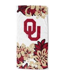 "northwest company oklahoma sooners 30x60 ""flower power"" beach towel"