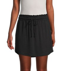bb dakota women's casual solid skirt - black - size m