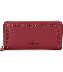 grace dollaro rockstud zip-around wallet