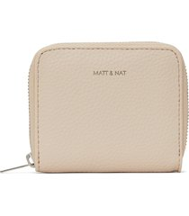 matt & nat rue small vegan zip wallet purity, opal