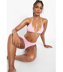badstoffen driehoekige bikini top, pink