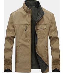 giacca multi tasche traspirante antivento traspirante a due lati casual plus