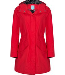 happyrainydays regenjas parka rosa red-s